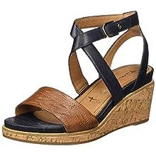 Tamaris 1-1-28016-24, Women's Ankle-Strap, Blue Navy Nut 834, 3.5 UK (36 EU)
