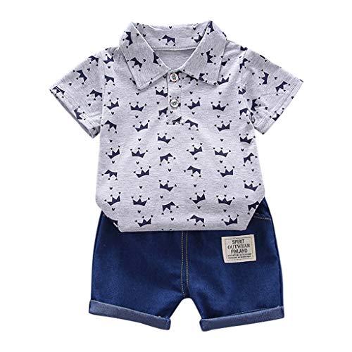 Beikoard Babykleidung 2019 Kinder Sommer Kleidung 2 PCS Set Kleinkind Kind Baby Junge Flamingo Tops T-Shirt + Shorts Hosen Outfits Kurzarm Kleidung 1-4T (Kleidung Urlaub Kleinkind)