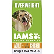 Iams ProActive Health Complete and Balanced Dog Food with Chicken for Sterilised and Overweight Dogs All Breeds, 12 kg