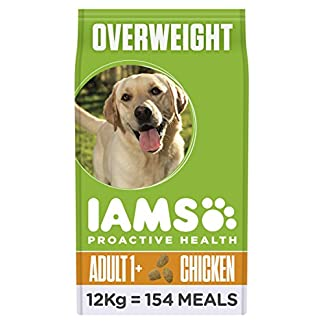 Iams ProActive Health Complete and Balanced Dog Food with Chicken for Sterilised and Overweight Dogs All Breeds, 12 kg 12