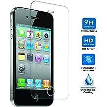 Protector de Pantalla para Iphone 4 / 4S Cristal Vidrio Templado Premium, Electrónica Rey®