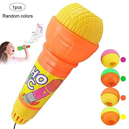 e Kinder Spielzeug Echo mikrofon mic Stimme wechsler Spielzeug Geschenk Geburtstagsgeschenk Kinder Party zufällige Farbe langlebig und praktisch ()