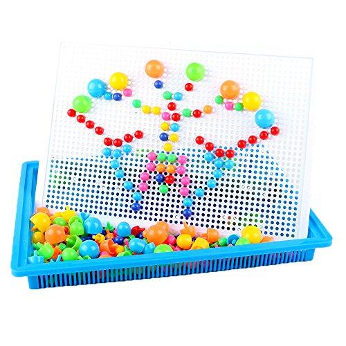 Eizur Puzzle für Kinder Kreative Bausteine mit Aufbewahrungsbox Montage DIY Geschenk für Kinder 296PCS