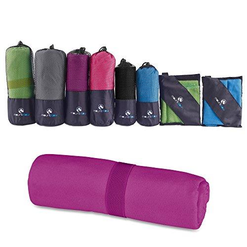 Asciugamano in microfibra compatto - asciugamani palestra per uomo donna bambino - asciugamano leggero da viaggio, sport, campeggio, piscina, sport - telo da mare e spiaggia ad asciugatura rapida