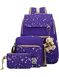 Preisvergleich für Geryy 1024KJW1U1DL206FABM2, Unisex Schulrucksack Violett violett
