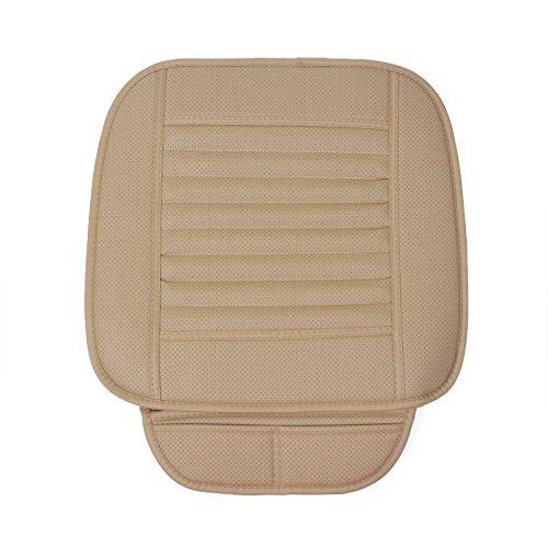 Preisvergleich Produktbild Auto Sitzkissen Breathable Massage Auto Sitzbezüge mit PU Leder Bambus Holzkohle, ideal für moderne härtere Autositze, verhindern die Schmerzen und Steifheit in Ihren Beinen und Rücken