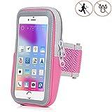 Handy Schutzhülle Tasche | für Doogee Y6 Max/ 3D | Sport armband zum Laufen, Joggen, Radfahren | SPO-2 Pink
