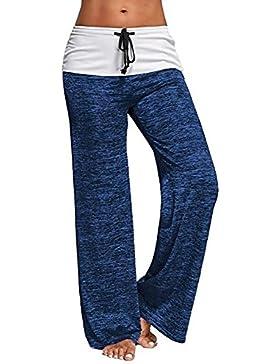 Casual Plain Loose Harem Beach Trousers Mxssi Women Yoga Pants Pierna ancha Pantalones largos