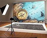 YongFoto 1,5x1m Vinyle Toile de Fond Boussole Carte du Monde Fond d'écran Voyage Fond Décors Studio Photo Portrait Enfant Video Fete Mariage Photobooth Photographie Accesorios