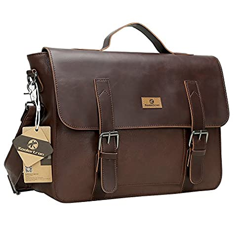 Koolertron Synthetic Leather Briefcase Laptop Bag Shoulder Messenger Bag Tote Handbag Cross Body Bags