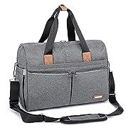 RUVALINO Wickeltasche, Große Weekender-Reise Wickeltasche, stilvoll für Mama und Papa, umwandelbare Babytasche für Jungen und Mädchen mit Wickelauflage, isolierten Taschen (grau)