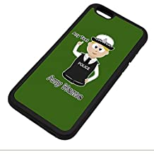 Personalised Gift - Traffic Officer Police Constable / Sergeant / (Chief) Inspector iPhone 6 / 6s Case (Police Design Theme, Colour Options) - Any Name / Message on Your Unique - PC SGT INSP CID - Blonde / Yellow Hair Policewoman Hat Cap