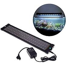 Itian 72 Acuario del LED Lámpara de la Luz del Soporte Extensible Blanca Luz Azul 2 Modos de 11W AC100-240V