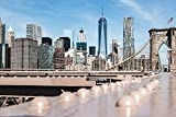 OKOUNOKO Pittura Olio Digitale Dipingere con I Numeri Adulti Ponte di Architettura Ponte di Brooklyn Colorazione Tela Immagini Kit Fai da Te Arte Camera Decorazione Frameless 40X50Cm