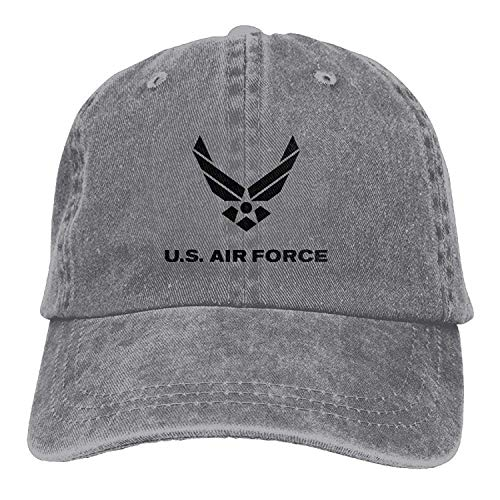 VTXWL Personality Caps Hats US Air Force Vintage Washed Dyed Cotton  Adjustable Plain Cowboy Cap 23bd5b395681