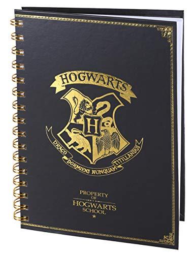 Cuaderno de espiral A5 Harry Potter color negro 6