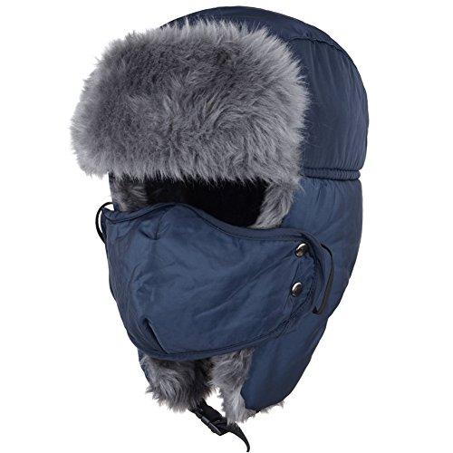 Unisex Super Warm Nylon Russian Style Winter Bomber Caps Ear Flap