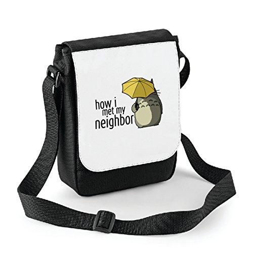 Mini borsa a tracolla Il mio vicino Totoro - How i met my nieghbor - Miyazaki - anime Bianco