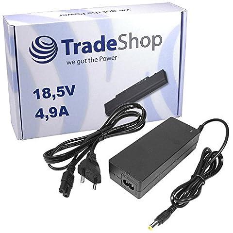Notebook Laptop Netzteil Ladegerät Ladekabel Adapter 18,5V 4,9A 90W 4,8mm x 1,7mm Stecker inkl. Stromkabel für Hewlett Packard HP Pavilion DV-4300 DV-4400 DV-6000 DV-8000 DV-9000 2200-XX 2204-US
