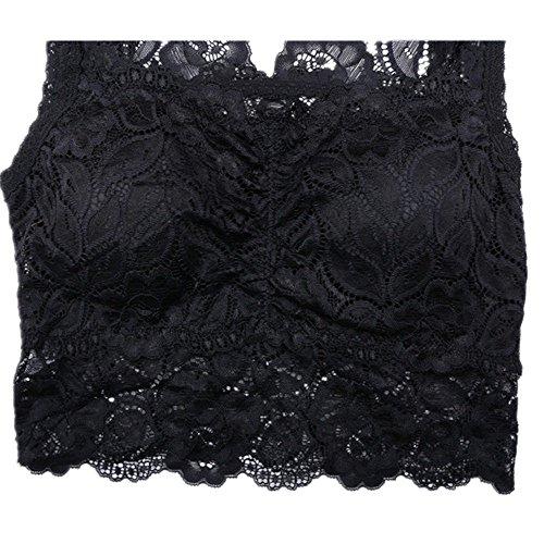 Meiyaa Damen Unterhemd Schwarz