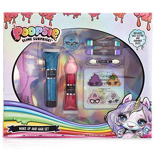 Poopsie Unicorn Rainbow Surprise Trucchi Bambina, Confezione 8 Accessori Make Up Beauty e Capelli con Gessetti Colorati per Capelli, Fantastico Regalo Pupsy per Ragazza