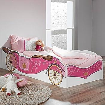 Himmelbett kinderbett prinzessin  Amazon.de: Himmelbett Kinderbett Mädchenbett ISABELLA, 90x200 cm ...