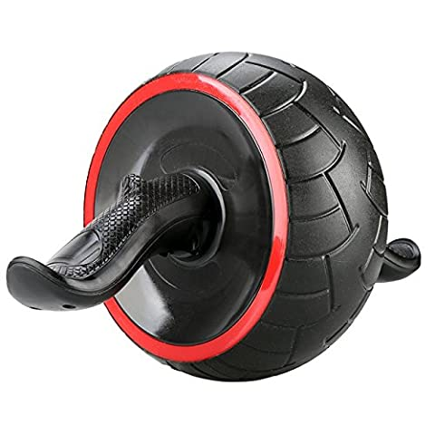 Dual Ab Roller Exercise Wheel & Thick Knee Pad The