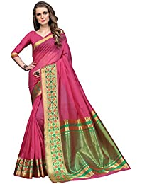 Soru Fashion Women's Pure Art Silk Pink Woven Assam Silk Partywear Saree/Wedding Saree/Casual Wear Saree With...