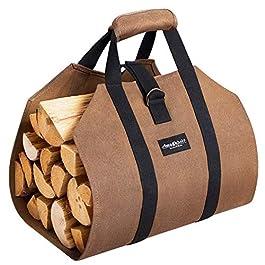 Amagabeli Borsa per Tronch Totalizzatore 99×45,7cm Camino Borsa per la Porta legna da esterni maniglie Cinghie di legna…