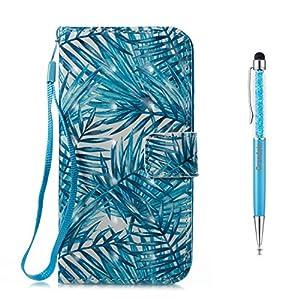 Grandoin iPhone X Hülle, Handyhülle im Brieftasche-Stil für Apple iPhone X