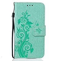 For Huawei Y625 Case [With Tempered Glass Screen Protector],idatog(TM) Magnetic Flip Book Style Cover Case ,High Quality Classic Elegant Couples Dandelion Pattern Design Premium PU Leather Folding Wallet Case With [Lanyard Strap] and [Credit Card Slots] a