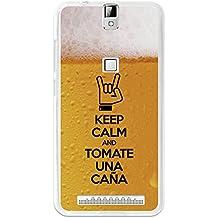 BeCool - Funda Gel Flexible Elephone P8000 Keep Calm Caña Carcasa Case Silicona TPU Suave