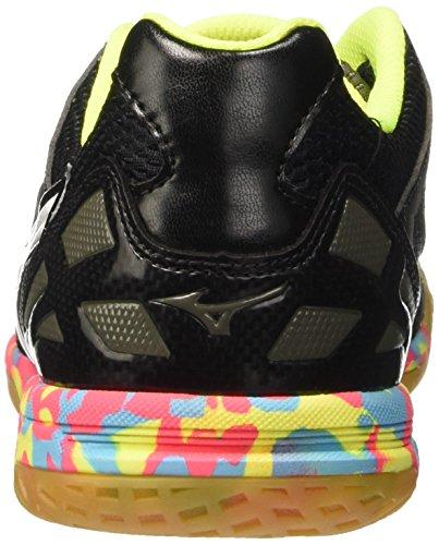 Mizuno Sala Premium In, Chaussures de Football Amricain Homme Nero (Black/White/SafetyYellow)