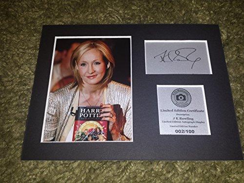j.k Rowling autografata display-Harry Potter-montato e pronto per essere incorniciata
