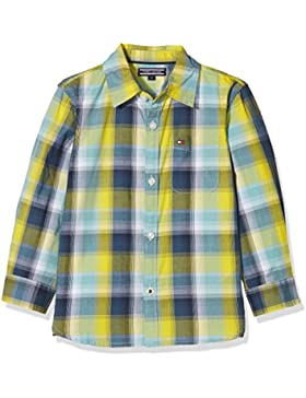 Tommy Hilfiger Multicolor Chk Shirt L/S, Blusa para Niños