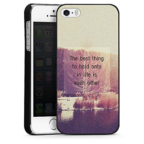 Apple iPhone 4 Housse Étui Silicone Coque Protection Phrases Arbres Amour CasDur noir