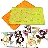 0?9numéros en silicone DIY Moule à chocolat bac à glaçons Moule à gteaux Bakeware outils