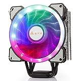 GOLDEN FIELD PHUBOSS Z5 Dissipatore di calore con 4 heatpipes e radiatore di raffreddamento a raffreddamento a basso rumore del CPU del ventilatore di 120MM LED per Intel & AMD