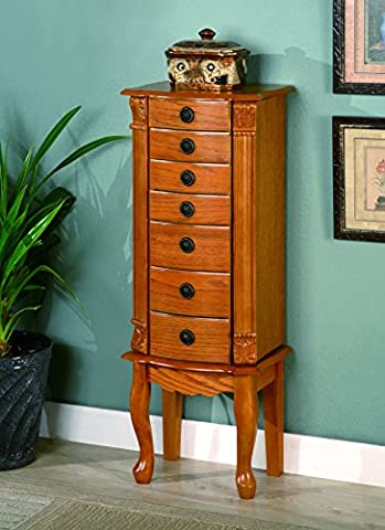 Coaster Traditional Jewelry Armoire,