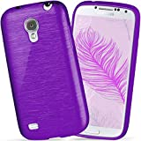 moex Samsung Galaxy S4 Mini | Hülle Silikon Lila Brushed Back-Cover TPU Schutzhülle Ultra-Slim Handyhülle für Samsung Galaxy S4 Mini Case Dünn Silikonhülle Rückseite Tasche