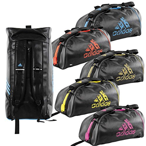 Adidas - Mochila, BLACK-YELLOW, M