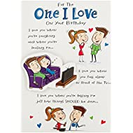 Hallmark Birthday Card For One I Love, Funny Poem - Medium