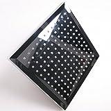 SODIAL(TM) 8 pouces T¨ºte de pomme de douche fonction de temp¨¦rature sensible LED, chrome