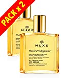 NUXE - Dry Oil Huile Prodigieuse MULTI-USAGE SKIN CARE - NOURISHES, REPAIRS AND SOFTENS - Face Body and Hair - Pack 2 x 100ML