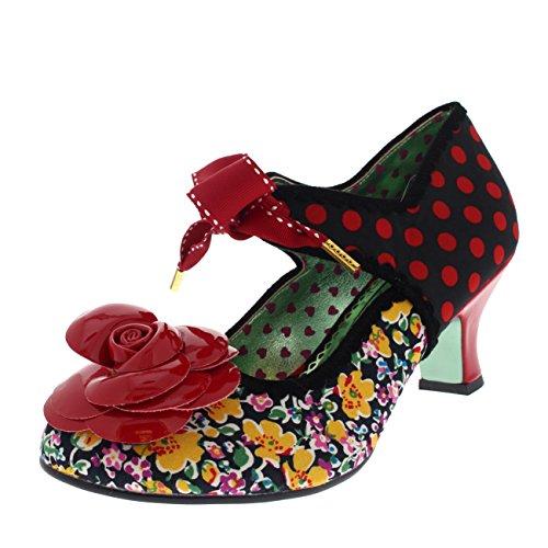 Damen Poetic Licence Summer Sands Tupfen Kätzchen Ferse Gericht Schuhe Multicolour (Black)