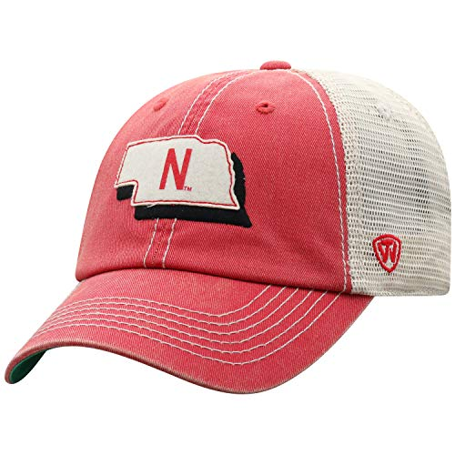 ren Mütze NCAA Off Road Mesh State Icon verstellbar, Herren, Elite Fan Shop NCAA Men's Off Road Mesh Back Hat, Nebraska Cornhuskers Red, Einstellbar ()