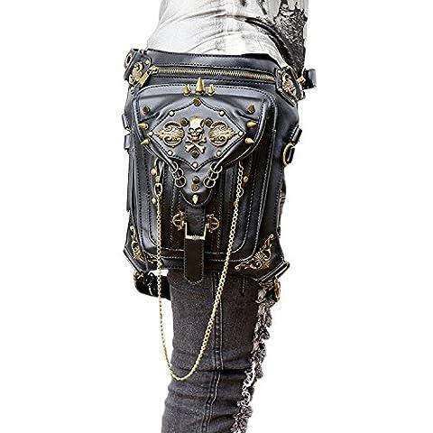Retro Bag Steam Punk Retro Rock Gothic Goth Shoulder Waist Bags Packs Victorian Style for Women Men + Leg Thigh Holster