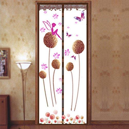 Zanzariera magnetica per porta, dandelion modello magnetico fly insect door screen dello schermo mesh tenda fits, porta magica tenda porta mesh 100*210 brown