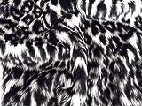 Animal Fun Kunstfell Stoff Material–Snow Leopard