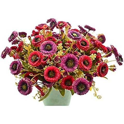 Artificiali Mazzo, Ouneed® 1 BouquetArtificiale Hydrangea Bouquet fiori di Seta Foglia Festa Nuziale della Sposa la decorazione domestica Home Decor ,Crisantemo/ Autunno Camellia,Ortensia